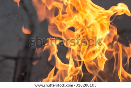 abstract background of a flame of fire