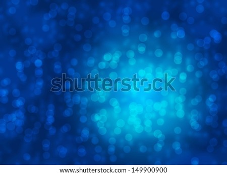 Abstract background of beautiful blue bokeh