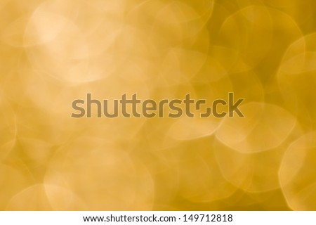 Abstract background of beautiful yellow bokeh - stock photo