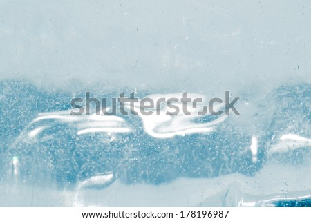 abstract background of blue ice