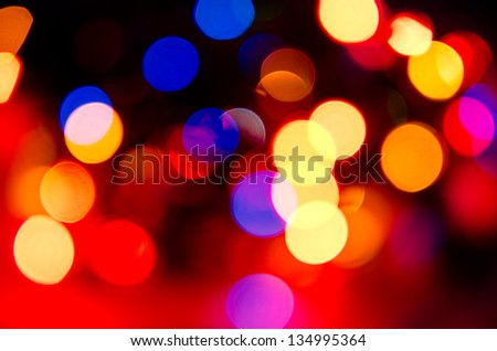 abstract background of blurred lights - stock photo