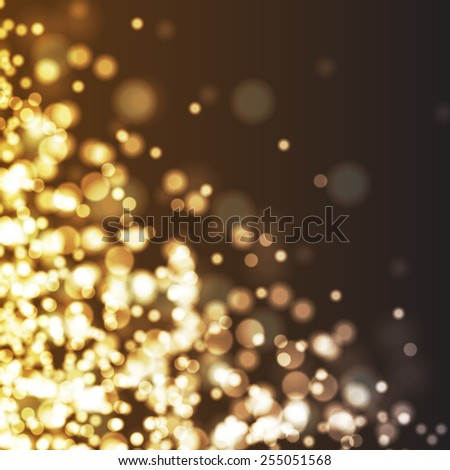Abstract background of bokeh lights and stars - stock photo
