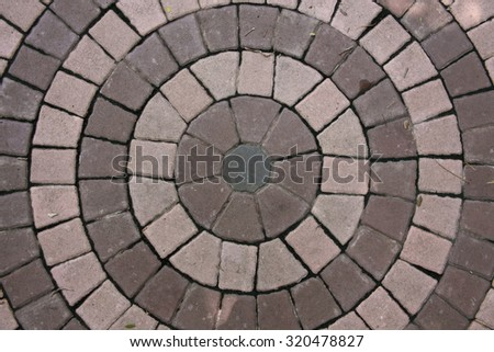 Abstract background of circle stone wall texture