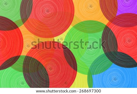 Abstract background of colored circles  - stock photo
