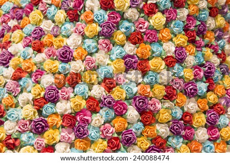 Abstract background of Colorful flowers. Close-up. - stock photo