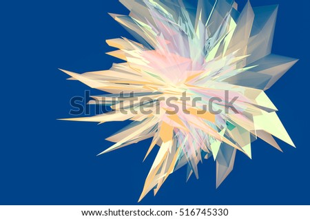 abstract background of colourful transparent shapes ,crystal . 3d illustration
