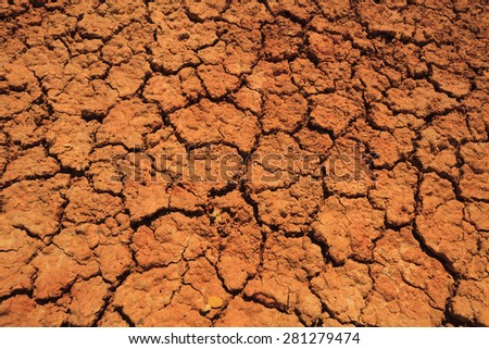 Abstract background of cracked earth. Drought. - stock photo