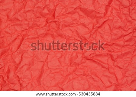 abstract background of crumpled red paper