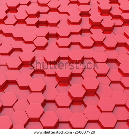 Abstract background of 3d blocks - stock photo