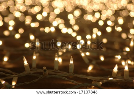 Abstract background of glowing christmas lights decoration