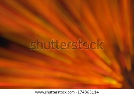Abstract Background Of Orange Light Zoom Lower Right Side Motion Blur