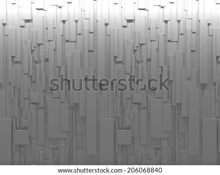 Abstract background of rectangles of different sizes - stock photo