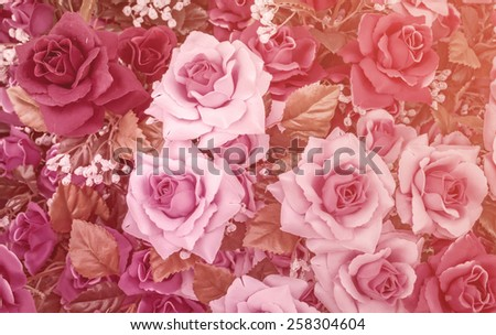 Abstract background of rose flowers - stock photo