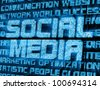 Abstract Background of Social Media with Glowing Rays - stock photo