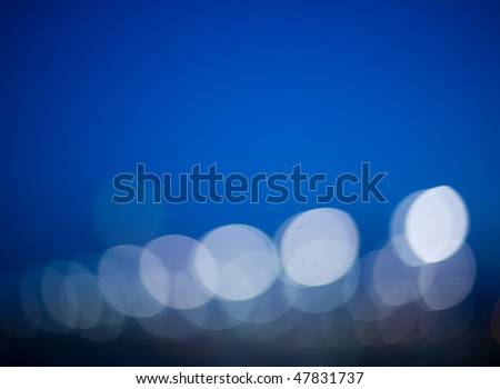 abstract background of streetlights - stock photo