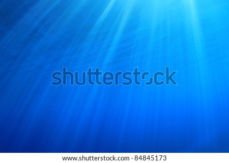 Abstract Background of Sun Rays underwater