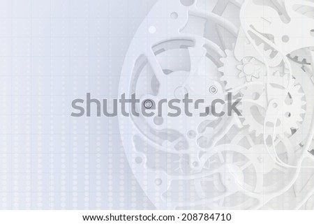 abstract background of the clock.  clock mechanism - stock photo