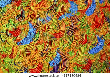Abstract background. Oil painting - stock photo