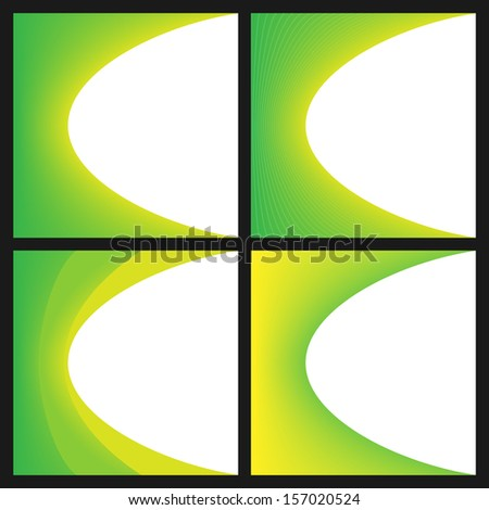Abstract Background Or Cover Template Set. Raster version - stock photo