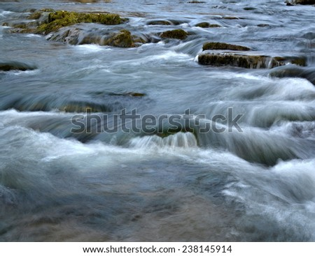 abstract background or texture white water rapids river - stock photo