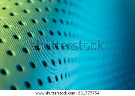 Abstract background pattern of blue yoga mat. - stock photo