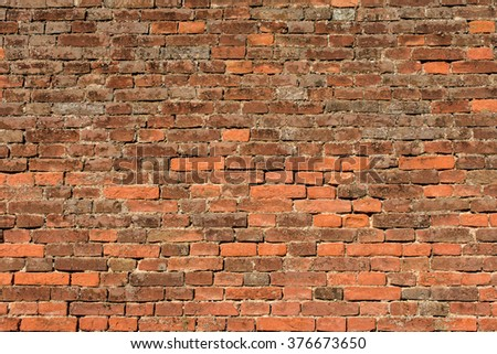 abstract background pattern red brick wall - texture