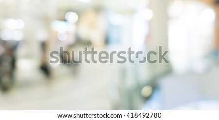 Abstract background - people shopping and walking - stock photo