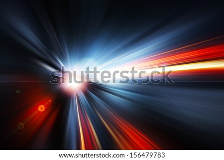 Abstract Background - rays of colorful light