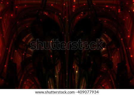 abstract background red bokeh circles. Beautiful background with particles.