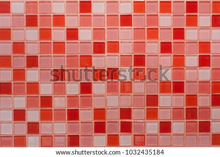 Abstract background red mosaic tile