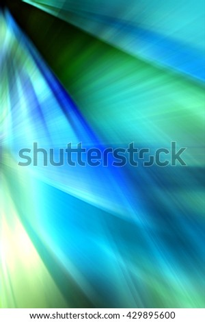 Abstract background representing speed, motion and burst of colors and light in blue, green and white colors. - stock photo