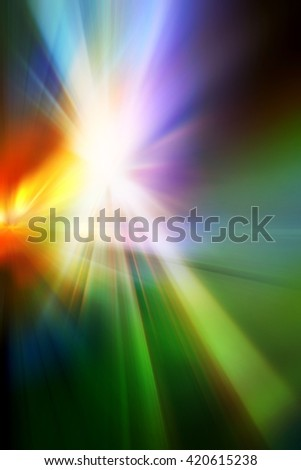 Abstract background representing speed, motion and burst of colors and light in blue, red, purple, yellow, orange and green colors. - stock photo