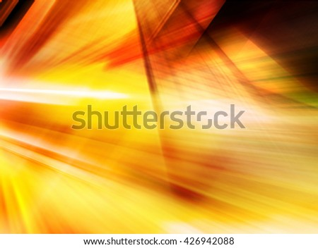 Abstract background representing speed, motion and burst of colors and light in red, orange, yellow colors. - stock photo