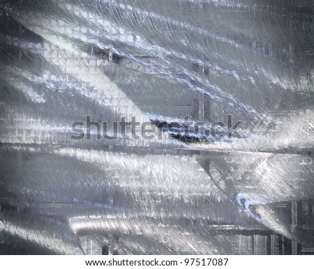 Abstract background, scratched metal - stock photo