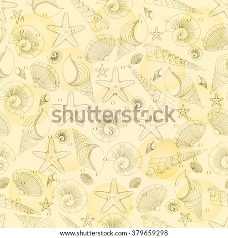 Abstract background, sea creatures abstraction.