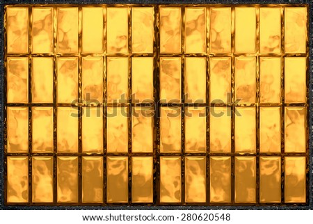 Abstract background seamless 3d, window, glass, metal, mosaic. Tool for designers or idea for interior exterior wall, floor or Background for studio photography. illustration. - stock photo