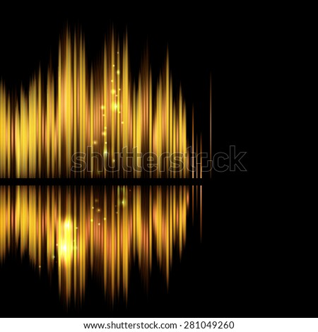 Abstract background-shiny sound waveform. Raster version without text. - stock photo