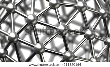 abstract background. silver glossy molecules structure High resolution 3d render  - stock photo