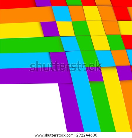 Abstract background simulating plexus colored paper strips - stock photo