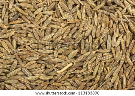 Abstract background. Spices: zeera seeds