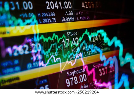 Abstract background stock indices and graphs - stock photo