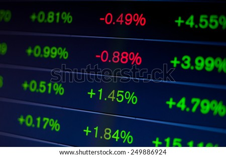 Abstract background stock market indices - stock photo