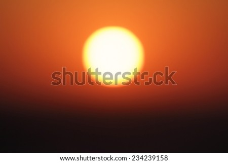 Abstract background. Sun at sunset - stock photo