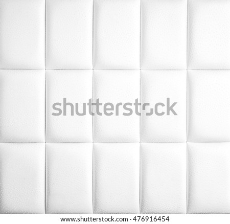 Abstract background texture of an old natural luxury, modern style leather with rhombs. Classic white, light and dark gray grungy skin of retro wall, door, sofa or studio interior with flat rectangles