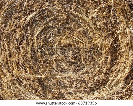 Abstract background texture of straw rolled into a bail - stock photo