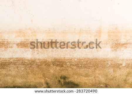 Abstract Background Texture of water level stain pattern after flood on wall house at Thailand stain pattern after flood on wall house at Thailand - stock photo