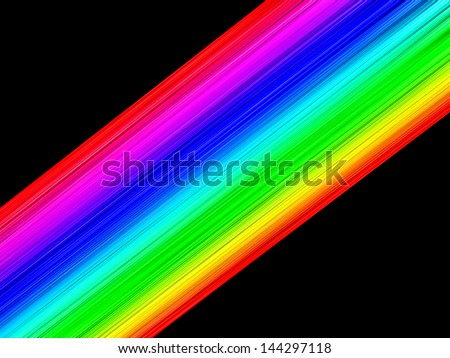 Abstract Background Texture Rainbow Colored Parallel Lines - stock photo