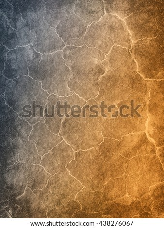 Abstract background textured in cold and warm colors that gradients from the side with brighter cracks.