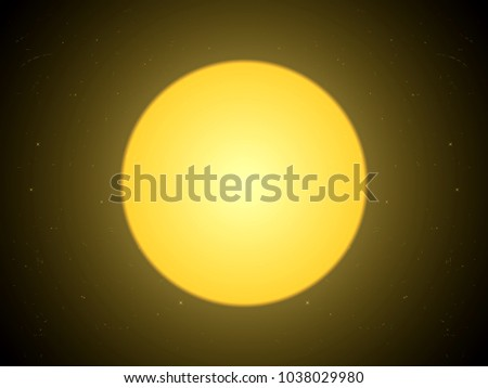abstract background the full moon light on the space with illustration