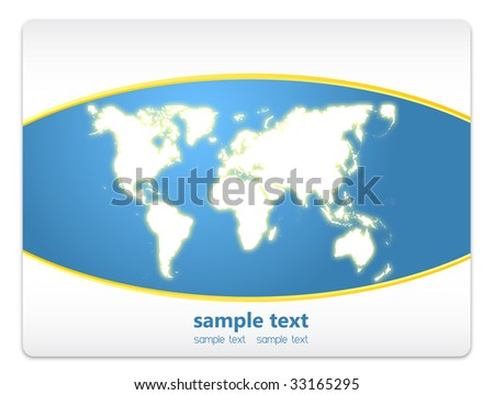 Abstract background vector world